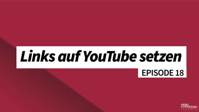 Links auf YouTube setzen