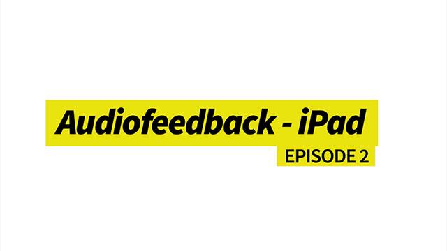 Audiofeedback - iPad