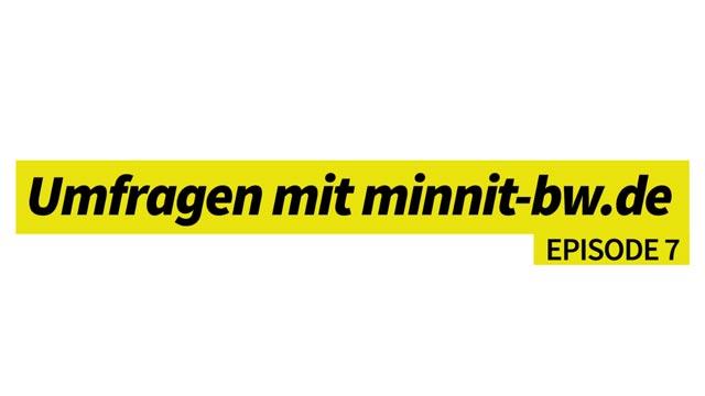 Umfragen mit minnit-bw.de